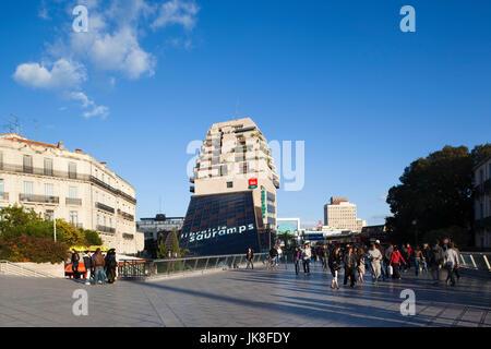 France, Languedoc-Roussillon, Herault Department, Montpellier, Le Traiangel off the Place de la Comedie - Stock Photo
