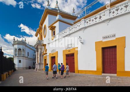 Spain, Andalucia Region, Seville Province, Seville, Plaza de Toros de la Real Maestranza bullring - Stock Photo