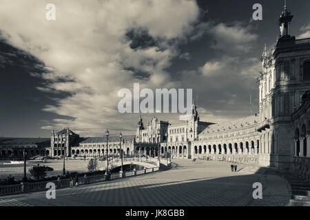 Spain, Andalucia Region, Seville Province, Seville, buildings of the Plaza Espana - Stock Photo