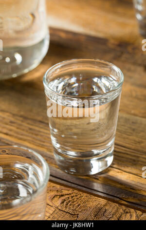 Boozy Alcoholic American Moonshine Shots Ready to Drink - Stock Photo