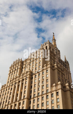 Russia, Moscow Oblast, Moscow, Presnya-area, one of the Stalin Seven Sisters buildings at Kudrinskaya Square - Stock Photo