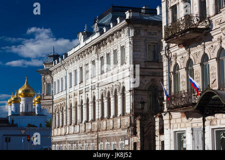 Russia, Kostroma Oblast, Golden Ring, Kostroma, buildings along Simanovsky Street - Stock Photo