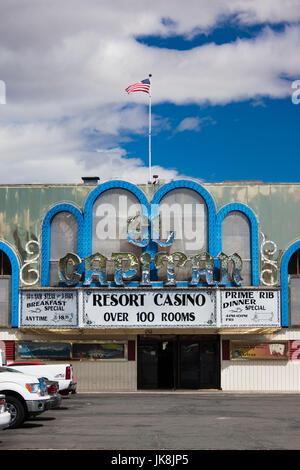 USA, Nevada, Great Basin, Hawthorne, El Capitan Resort Casino - Stock Photo