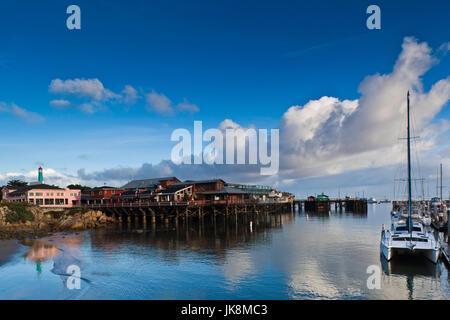 USA, California, Central Coast, Monterey, Fishermans Wharf - Stock Photo