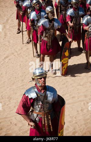 Jordan, Jerash, Roman Army and Chariot Experience, Roman-era military show, NR - Stock Photo