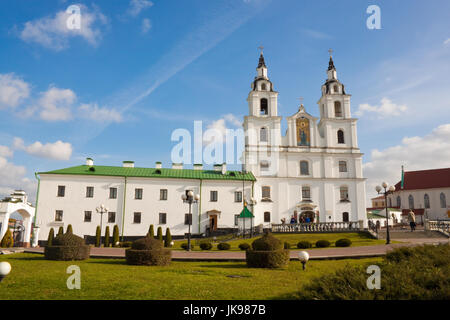 Minsk, Belarus - October 13, 2014: Holy Spirit Cathedral - the main cathedral of Belarusian Orthodox Church. - Stock Photo