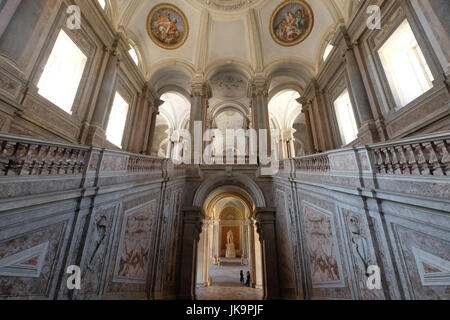 Royal Palace ( Reggia Di Caserta) The Stairway Of Honour ,Campania,Italy - Stock Photo