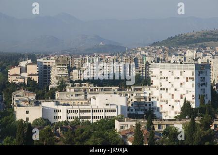 Montenegro, Podgorica, Hauptstadt, Stadtansicht, - Stock Photo