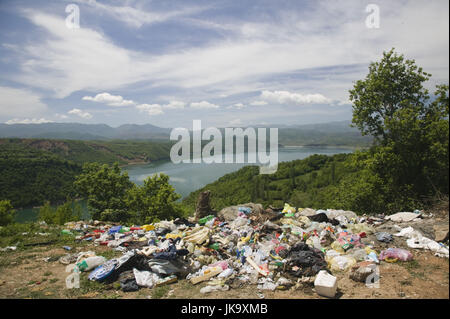 Mazedonien, Debar-See, Stausee, Landschaft, Natur, Abfall, - Stock Photo