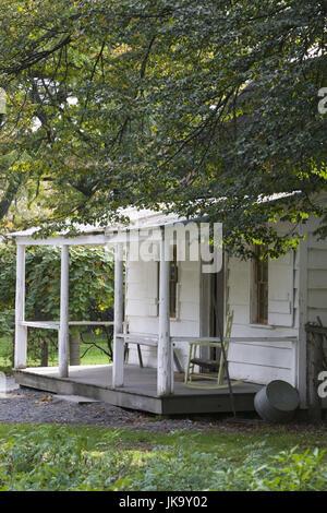USA, Michigan, Dearborn, Henry Ford Museum, Greenfield Village, Holzhaus, Detail,  Veranda,  Nordamerika, Reiseziel, - Stock Photo