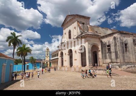Cuba, Sancti Spiritus Province, Trinidad, Iglesia Parroquial de la Santisima Trinidad, Holy Trinity Church - Stock Photo