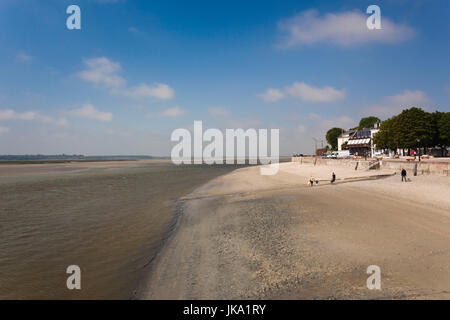 France, Picardy Region, Somme Department, Le Crotoy, Somme Bay resort town, La Baie de Somme, NR - Stock Photo