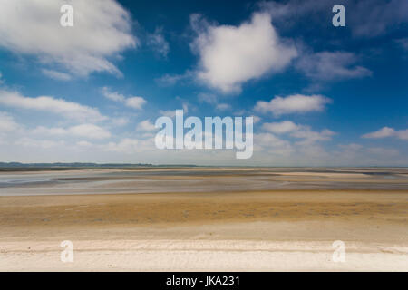 France, Picardy Region, Somme Department, Le Crotoy, Somme Bay resort town, view of La Baie de Somme - Stock Photo