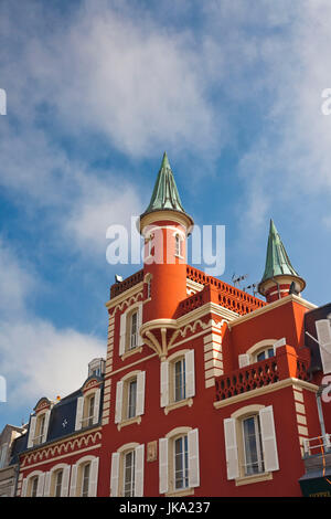 France, Picardy Region, Somme Department, Le Crotoy, Somme Bay resort town, building detail - Stock Photo