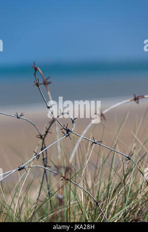 France, Normandy Region, Manche Department, D-Day Beaches Area, WW2-era D-Day invasion Utah Beach, Sainte Marie - Stock Photo