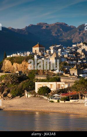 France, Corsica, Corse-du-Sud Department, Corsica South Coast Region, Propriano, town cemetery - Stock Photo