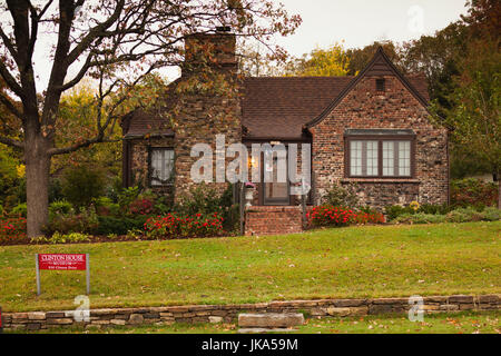 USA, Arkansas, Fayetteville, Clinton House Museum, former home of President Bill Clinton, University of Arkansas - Stock Photo