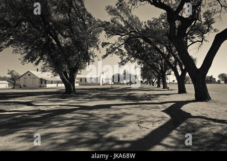 USA, Oklahoma, El Reno, Fort Reno, former Indian Wars military outpost and POW camp for German prisoners in World - Stock Photo