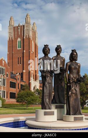 USA, Oklahoma, Oklahoma City, Miss America Monument, Oklahoma City University - Stock Photo