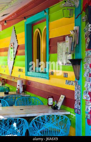 USA, Florida, Gulf Coast, Captiva Island, detail of colorful cafe - Stock Photo