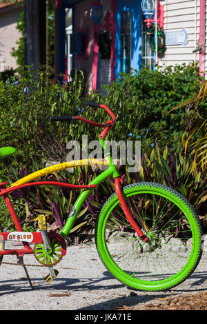 USA, Florida, Gulf Coast, Captiva Island, colorful bicycle - Stock Photo
