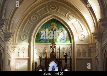 Chile, Antofagasta, Plaza Colon, Iglesia Catedral San Jose, interior - Stock Photo