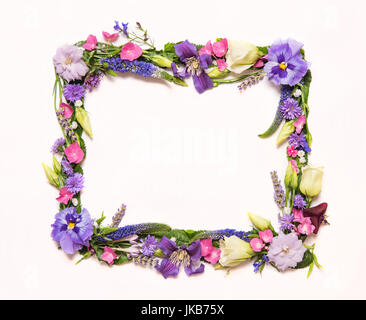 Floral borders that can be used in different ways. Borders made with real flowers that will frame your photographs - Stock Photo