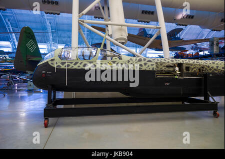 USA, Virginia, Herdon, National Air and Space Museum, Steven F. Udvar-Hazy Center, air museum, fuselage of WW2-era - Stock Photo