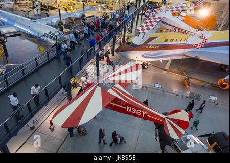 USA, Virginia, Herdon, National Air and Space Museum, Steven F. Udvar-Hazy Center, air museum, aerobatic aircraft - Stock Photo