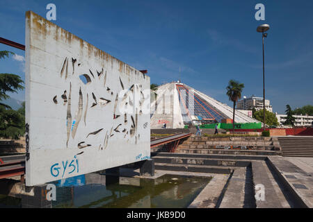 Albania, Tirana, The Pyramid, former tomb of Communist-era leader Enver Hoxha - Stock Photo