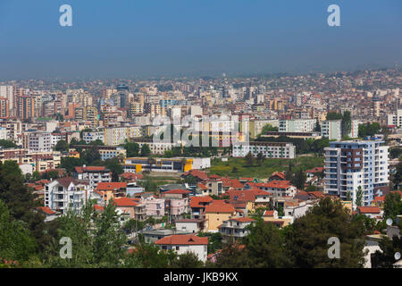 Albania, Tirana, elevated city view - Stock Photo