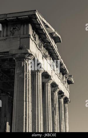 Greece, Central Greece Region, Athens, Ancient Agora, Temple of Hephaestus - Stock Photo