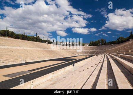 Greece, Central Greece Region, Athens, the Panathenaic Stadium, home of the first modern Olympic Games in 1896 - Stock Photo