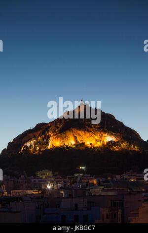 Greece, Central Greece Region, Athens, Lycabettus Hill, dawn - Stock Photo