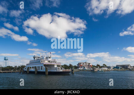 USA, North Carolina, Cape Hatteras National Saeshore, Ocracoke, ferry - Stock Photo