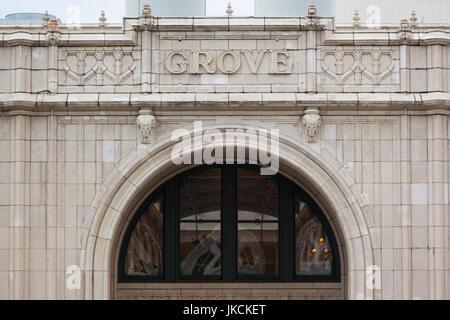 USA, North Carolina, Asheville, Grove Arcade Public Market, exterior - Stock Photo