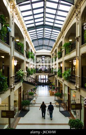 USA, North Carolina, Asheville, Grove Arcade Public Market, interior - Stock Photo
