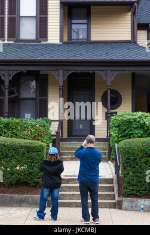 USA, Georgia, Atlanta, Martin Luther King National Historic Site, birthplace of Rev. Martin Luther King, King family - Stock Photo