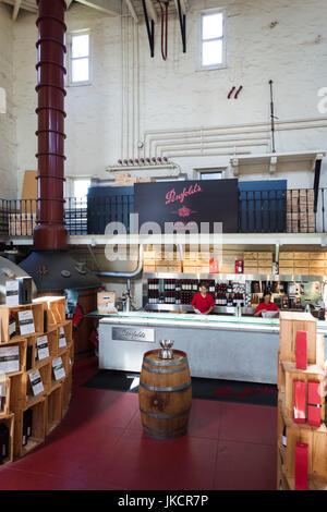 Australia, South Australia, Adelaide-MacGill, Penfolds Magil Estate Winery, oldest winery in South Australia, cellar - Stock Photo