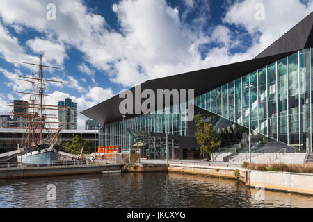 Australia, Victoria, VIC, Melbourne, South Wharf, Polly Woodside Maritime Museum ship - Stock Photo