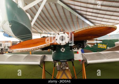 Australia, Western Australia, Bull Creek, RAAF Aviation Heritage Museum, wooden propeller - Stock Photo