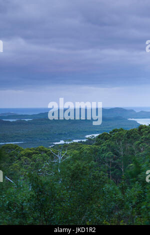 Australia, Western Australia, The Southwest, Walpole, elevated view of Nornalup Inlet from Hilltop Road - Stock Photo