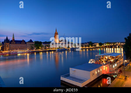 Frankfurt and Main River waterfront, Germany - Stock Photo