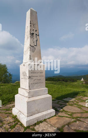 Bulgaria, Central Mountains, Shipka, Shipka Pass, Freedom Monument built in 1934 to commemorate Battle of the Shipka - Stock Photo