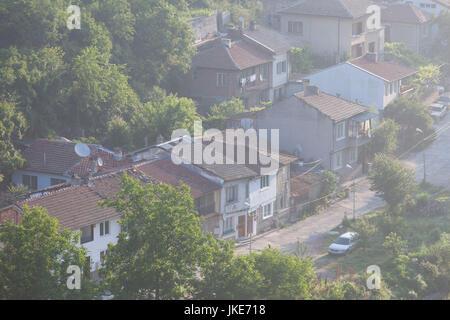 Bulgaria, Central Mountains, Veliko Tarnovo, Asenova, Old Fortress Area, Tsarevets Fortress, elevated view of the - Stock Photo