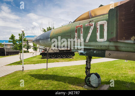Bulgaria, Sofia, Outdoor Park by the National Museum of Military History, Soviet Mig-23 jet fighter - Stock Photo