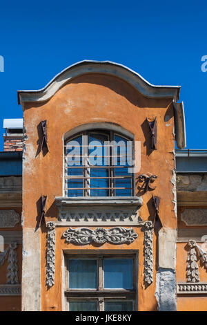 Bulgaria, Southern Mountains, Plovdiv, Old Plovdiv building detail - Stock Photo