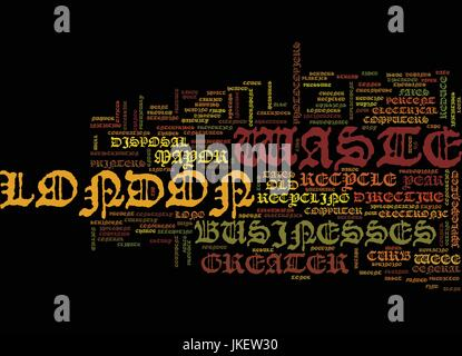 ASSET DISPOSAL IN GREATER LONDON Text Background Word Cloud Concept - Stock Photo