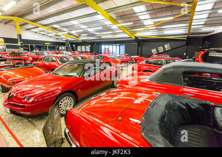 sports cars in the red room at haynes international motor museum stock photo royalty free image. Black Bedroom Furniture Sets. Home Design Ideas