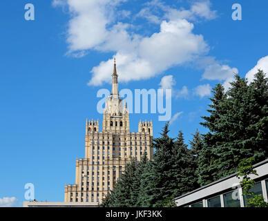 Detail of Skyscraper on the Kudrinskaya Square - Stock Photo